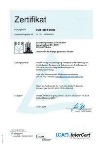 ISO-Zertifikat BIG