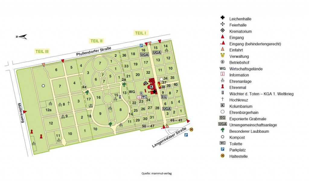 Lageplan Hauptfriedhof