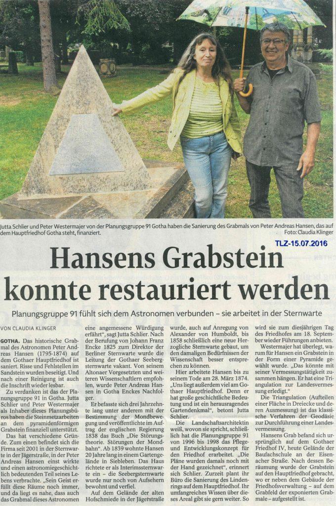 Astronom Hansen - Restaurierung