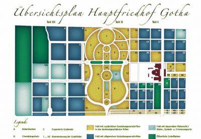 Lagenplan Friedhof Gotha